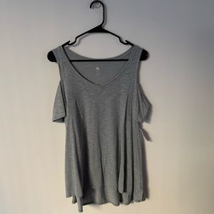 Cold-shoulder V-Neck Tee (NWT)